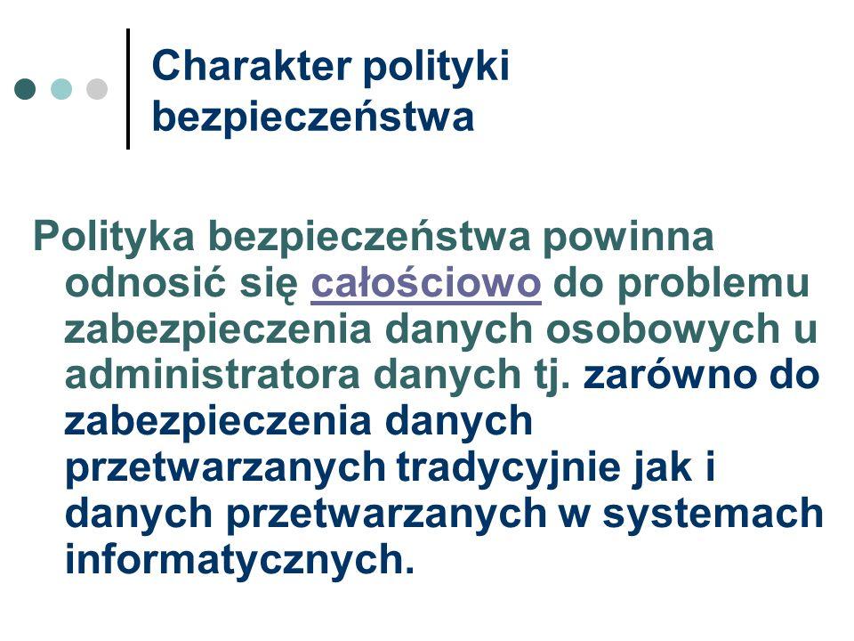 Charakter polityki bezpieczeństwa