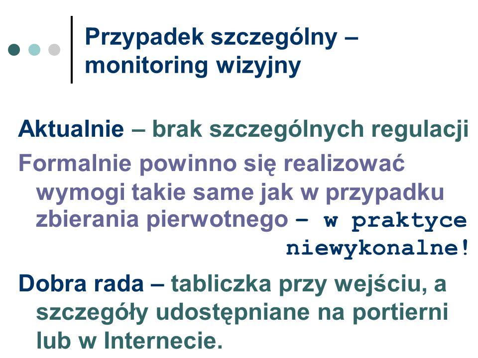 Przypadek szczególny – monitoring wizyjny