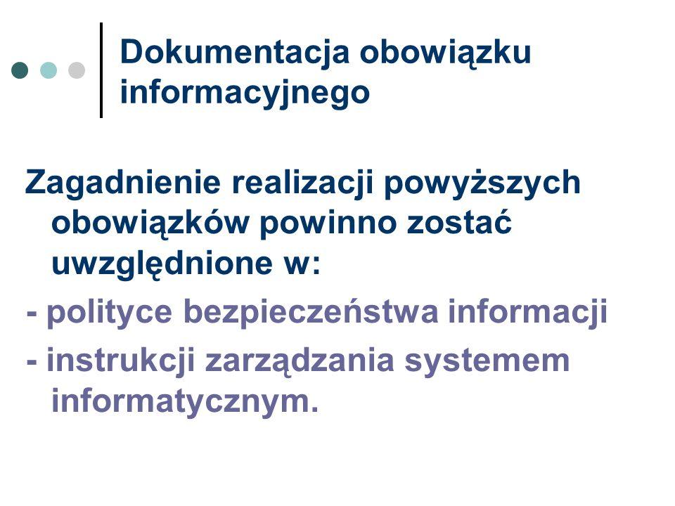 Dokumentacja obowiązku informacyjnego