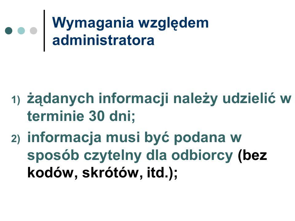 Wymagania względem administratora