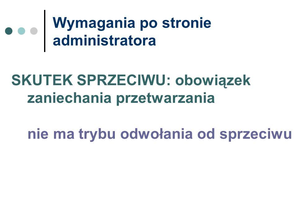 Wymagania po stronie administratora