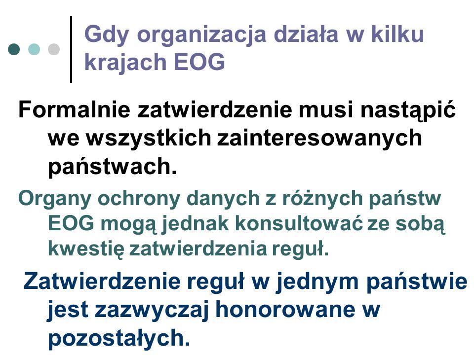 Gdy organizacja działa w kilku krajach EOG