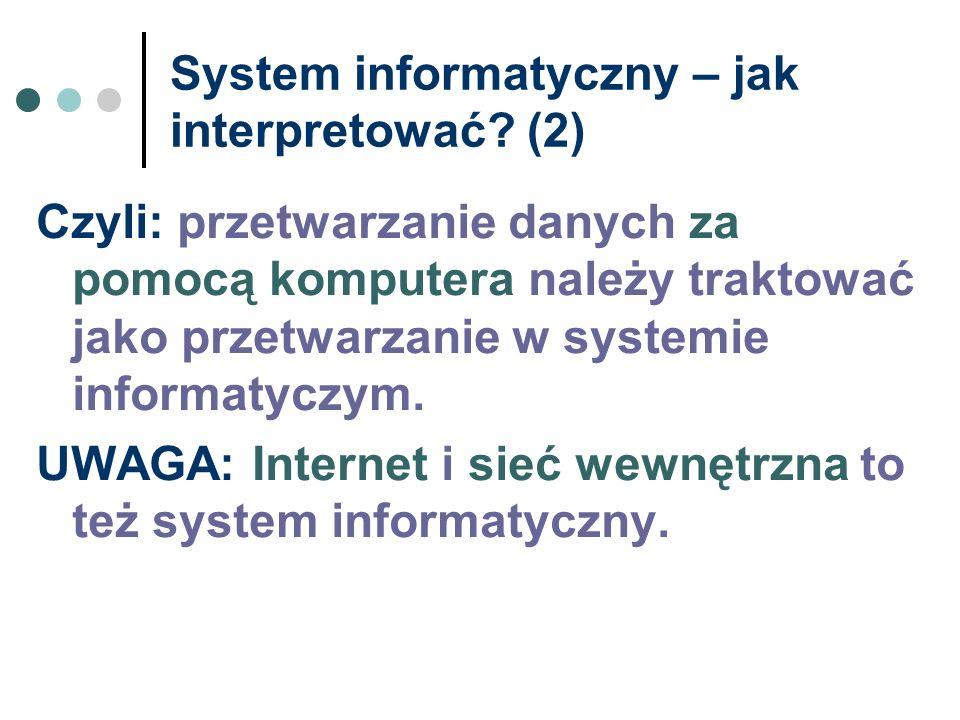 System informatyczny – jak interpretować (2)