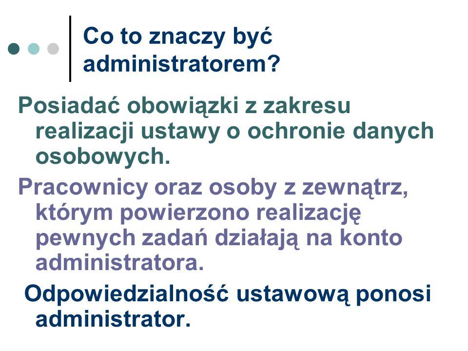 Co to znaczy być administratorem
