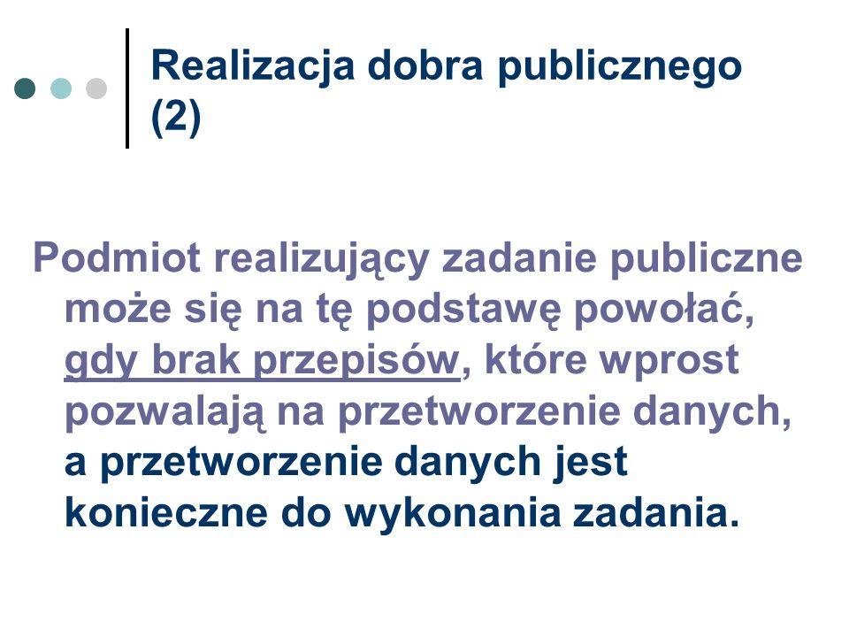 Realizacja dobra publicznego (2)