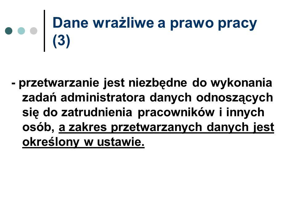 Dane wrażliwe a prawo pracy (3)