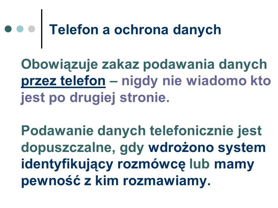 Telefon a ochrona danych