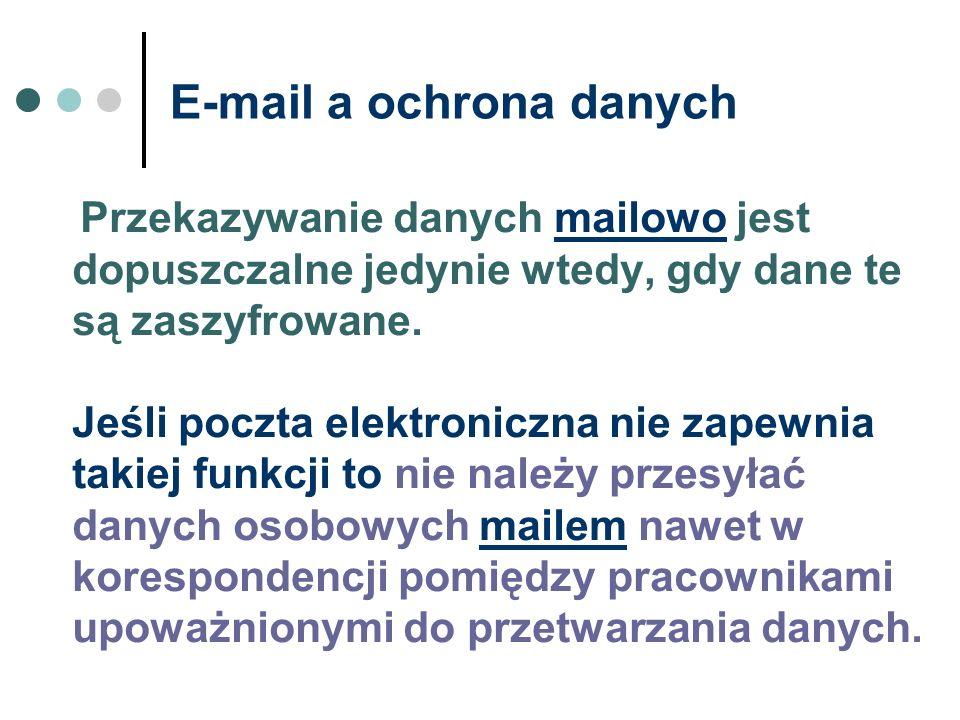 E-mail a ochrona danych
