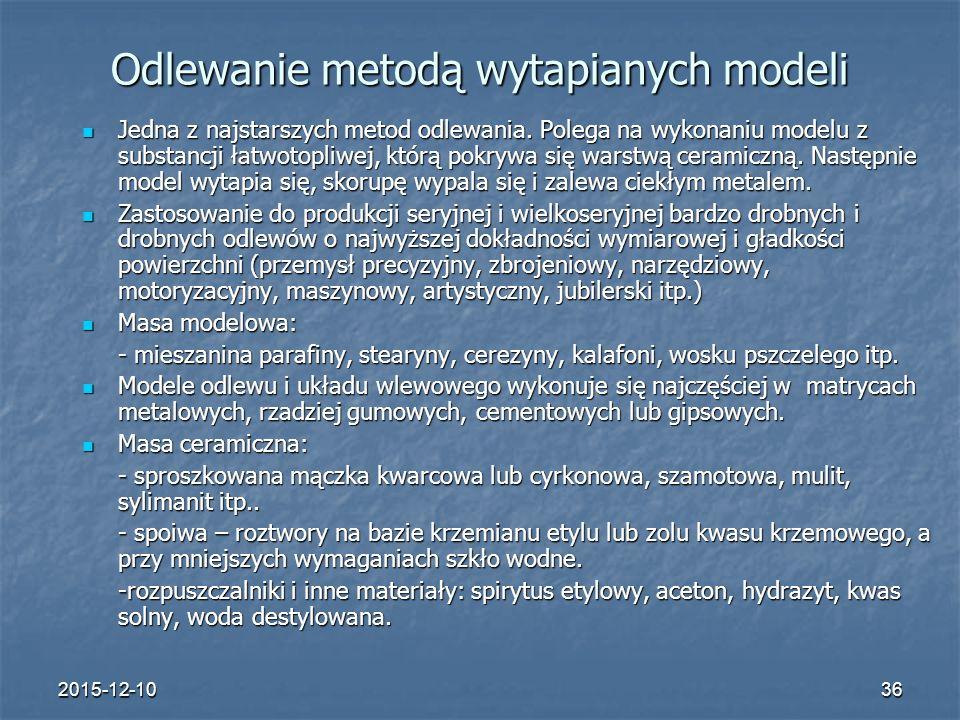 Odlewanie metodą wytapianych modeli