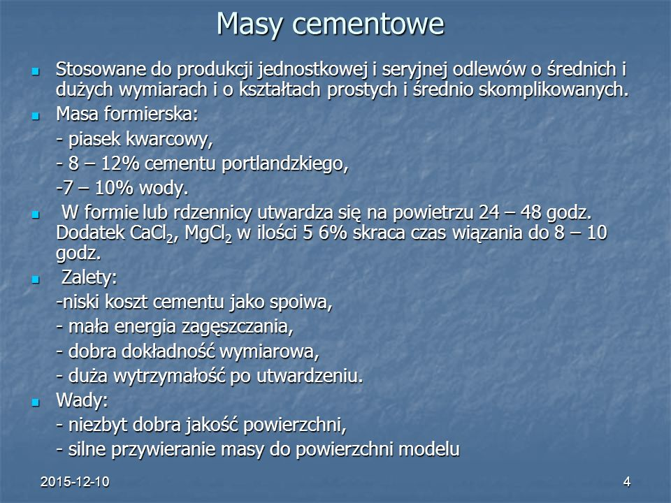Masy cementowe