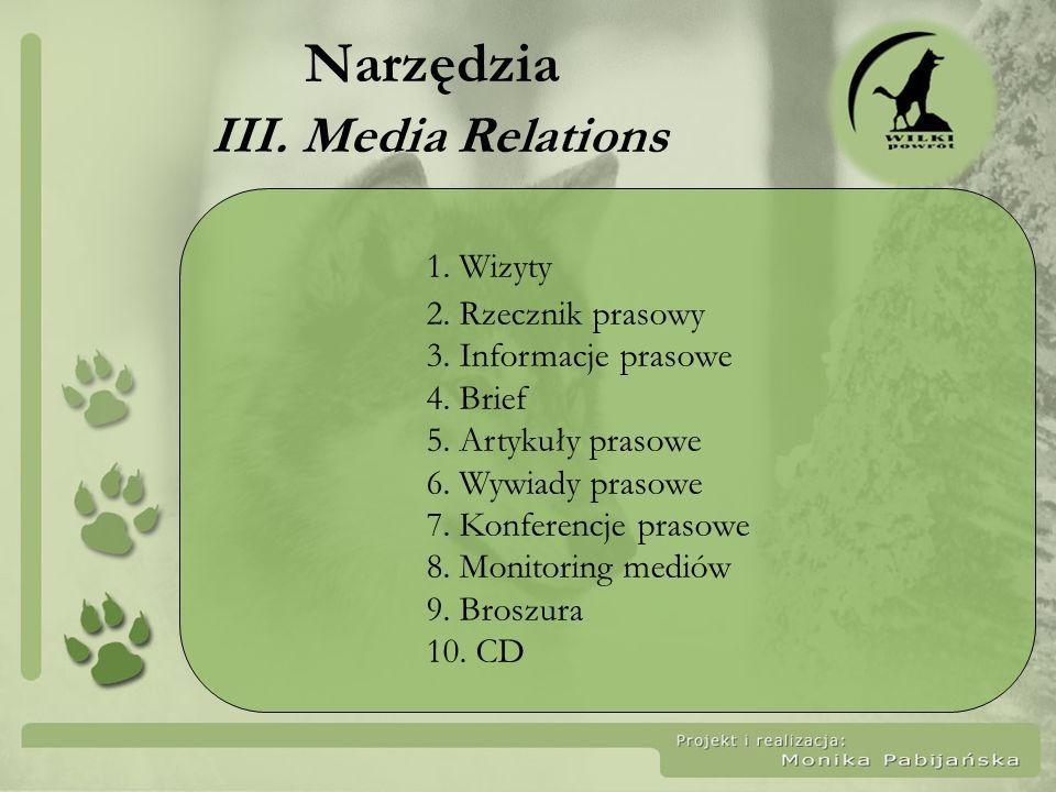 Narzędzia III. Media Relations