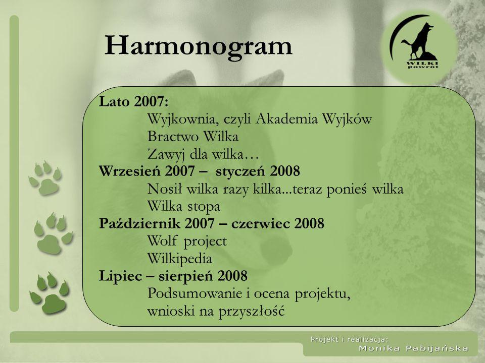 Harmonogram Lato 2007: Wyjkownia, czyli Akademia Wyjków Bractwo Wilka