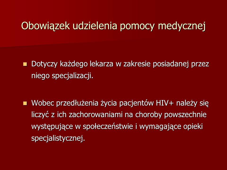 Obowiązek udzielenia pomocy medycznej