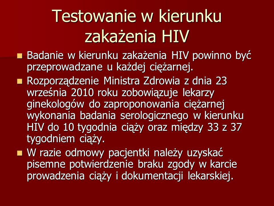 Testowanie w kierunku zakażenia HIV