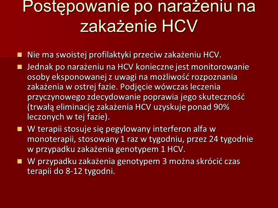 Postępowanie po narażeniu na zakażenie HCV