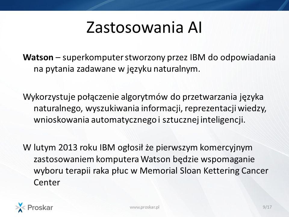 Zastosowania AI