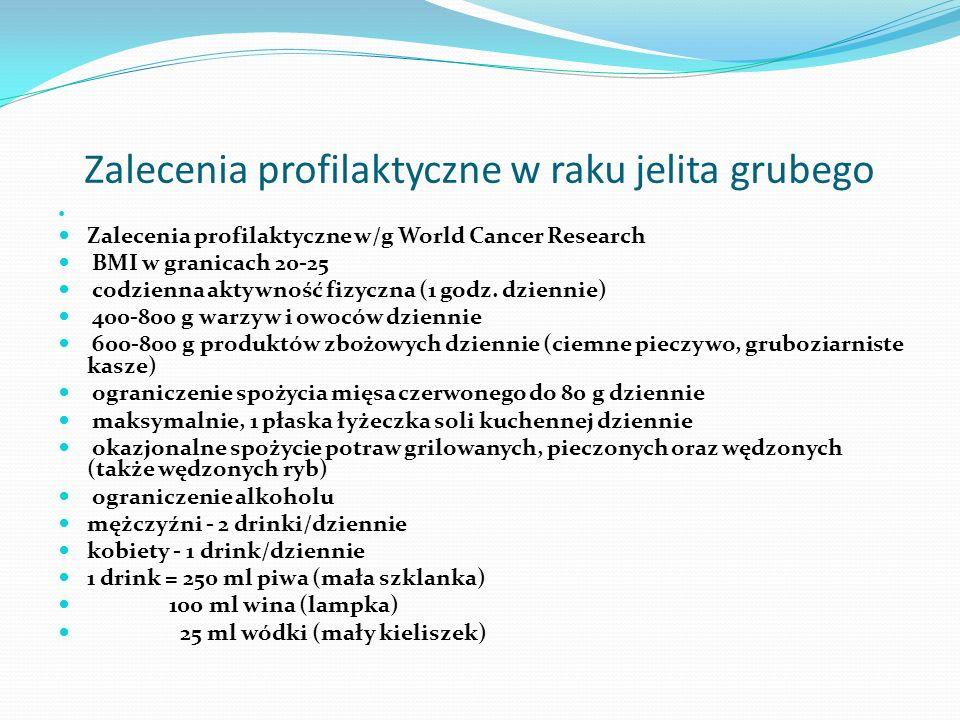 Zalecenia profilaktyczne w raku jelita grubego