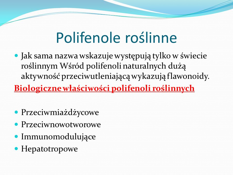 Polifenole roślinne