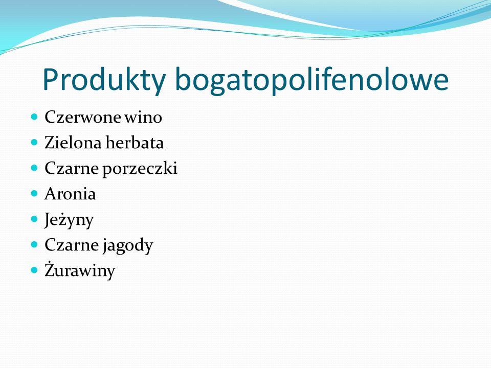 Produkty bogatopolifenolowe