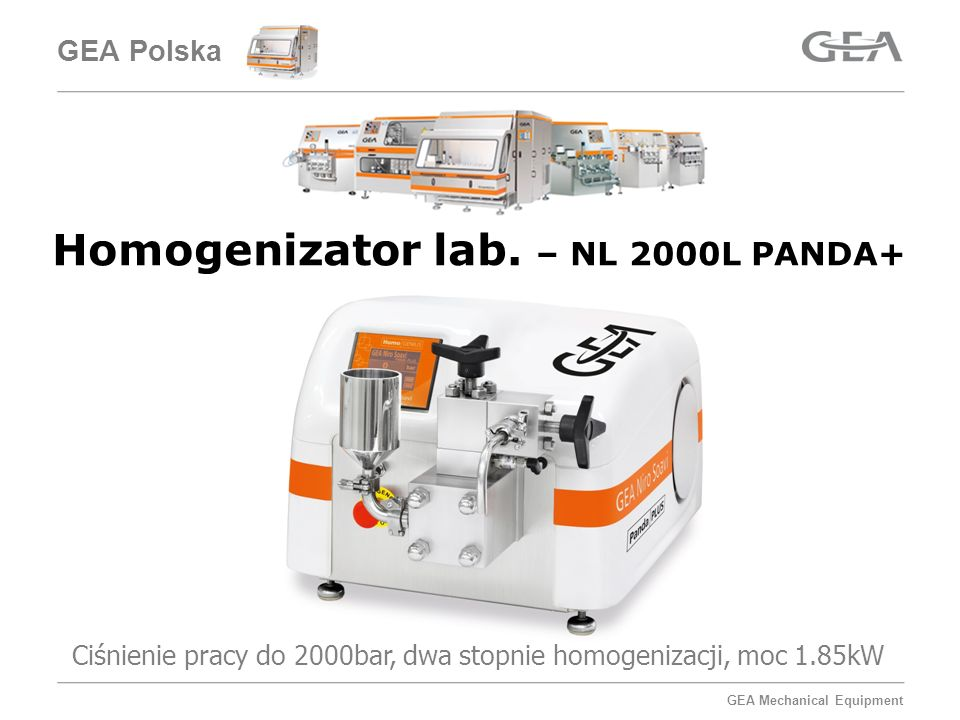 Homogenizator lab. – NL 2000L PANDA+