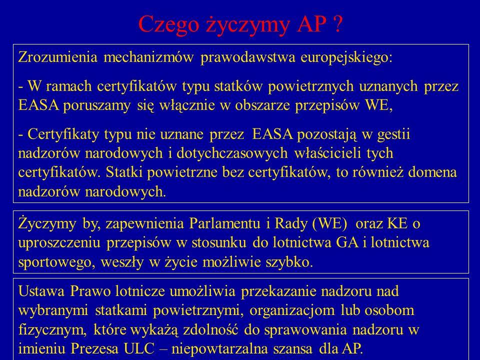 Czego życzymy AP Zrozumienia mechanizmów prawodawstwa europejskiego: