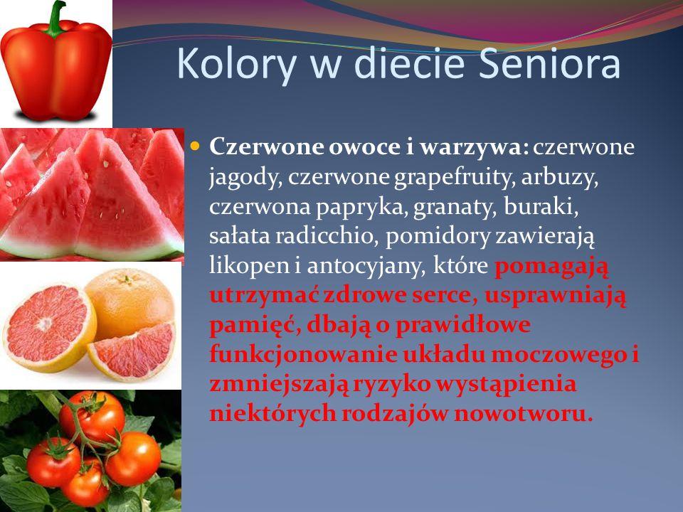 Kolory w diecie Seniora