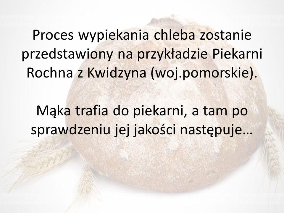 Proces wypiekania chleba zostanie przedstawiony na przykładzie Piekarni Rochna z Kwidzyna (woj.pomorskie).