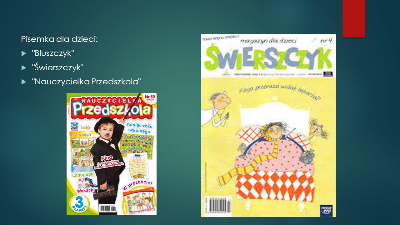 Pisemka dla dzieci: Bluszczyk Świerszczyk Nauczycielka Przedszkola