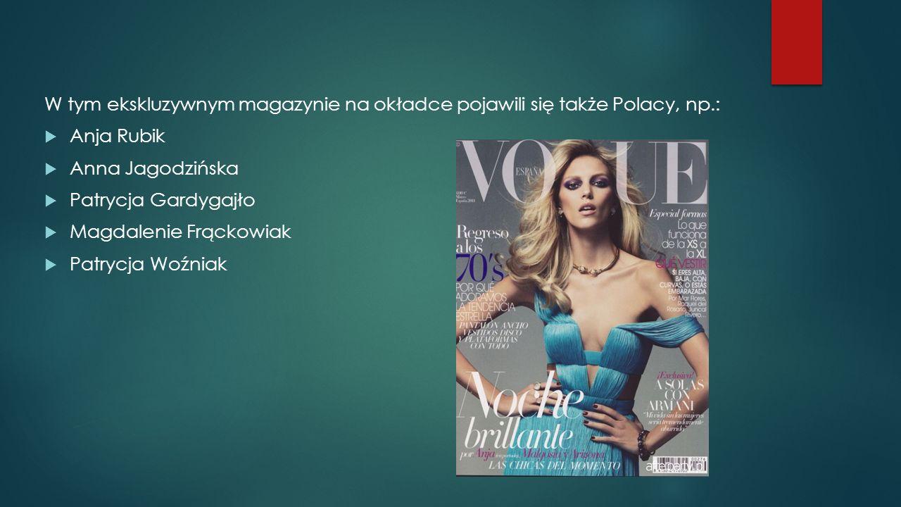 W tym ekskluzywnym magazynie na okładce pojawili się także Polacy, np