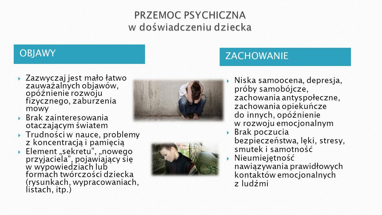 PRZEMOC PSYCHICZNA w doświadczeniu dziecka