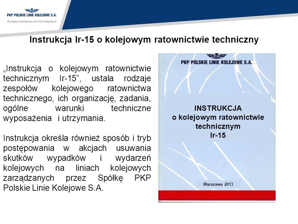 Instrukcja Ir-15 o kolejowym ratownictwie techniczny