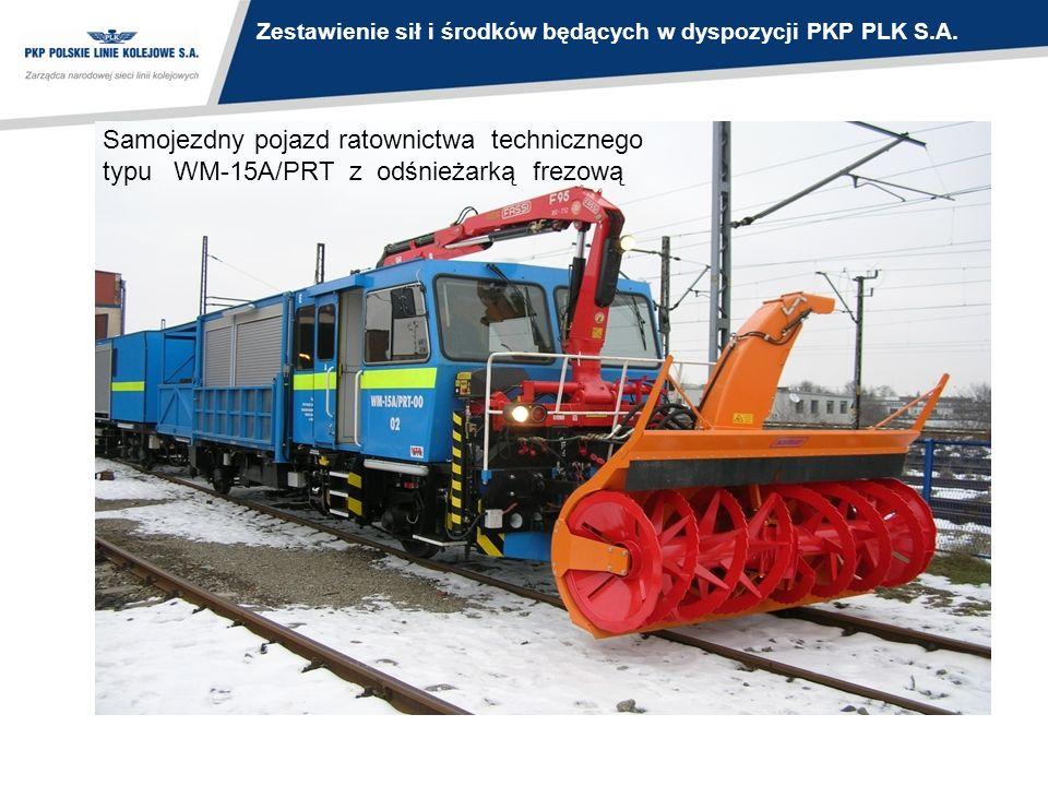 Zestawienie sił i środków będących w dyspozycji PKP PLK S.A.