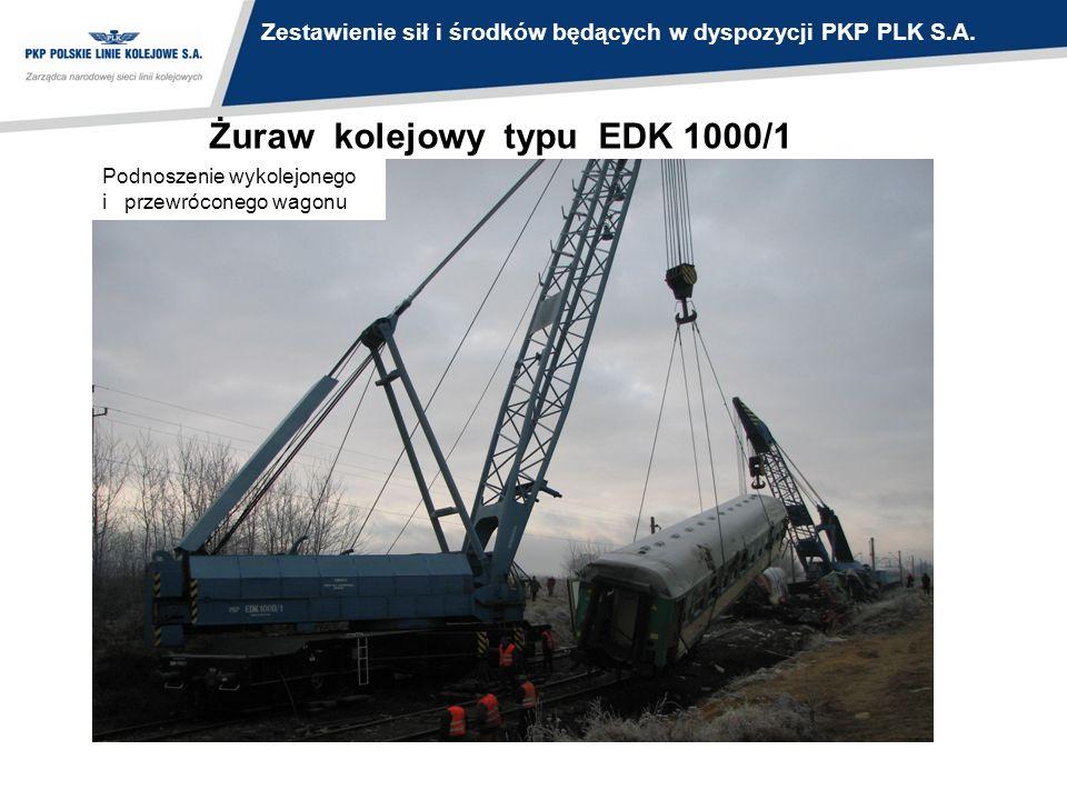 Żuraw kolejowy typu EDK 1000/1