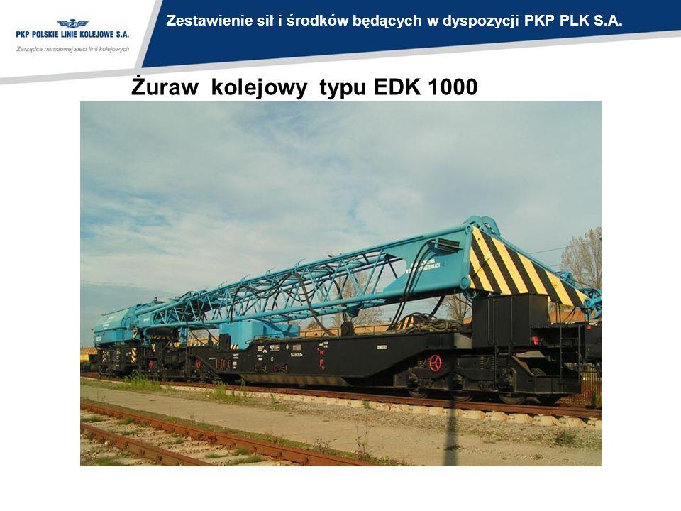 Żuraw kolejowy typu EDK 1000