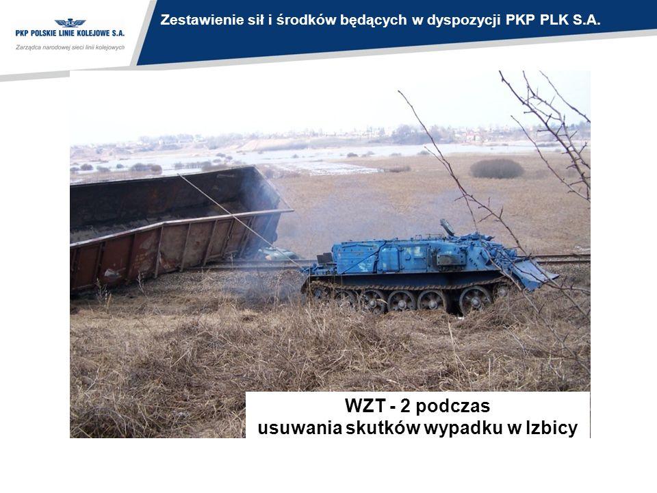 WZT - 2 podczas usuwania skutków wypadku w Izbicy