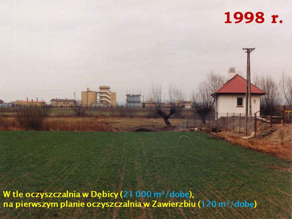 1998 r. W tle oczyszczalnia w Dębicy (21 000 m3/dobę),