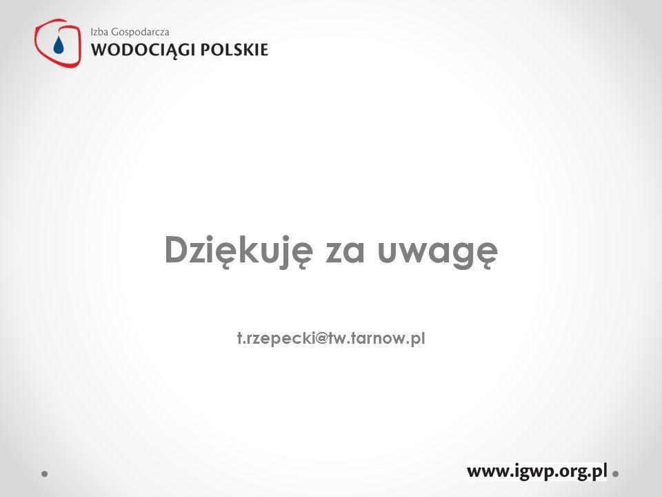 Dziękuję za uwagę t.rzepecki@tw.tarnow.pl