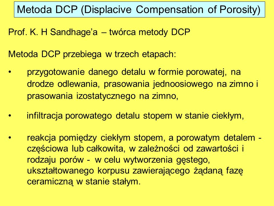 Metoda DCP (Displacive Compensation of Porosity)