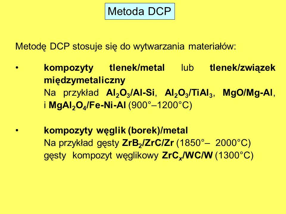 Metoda DCP Metodę DCP stosuje się do wytwarzania materiałów: