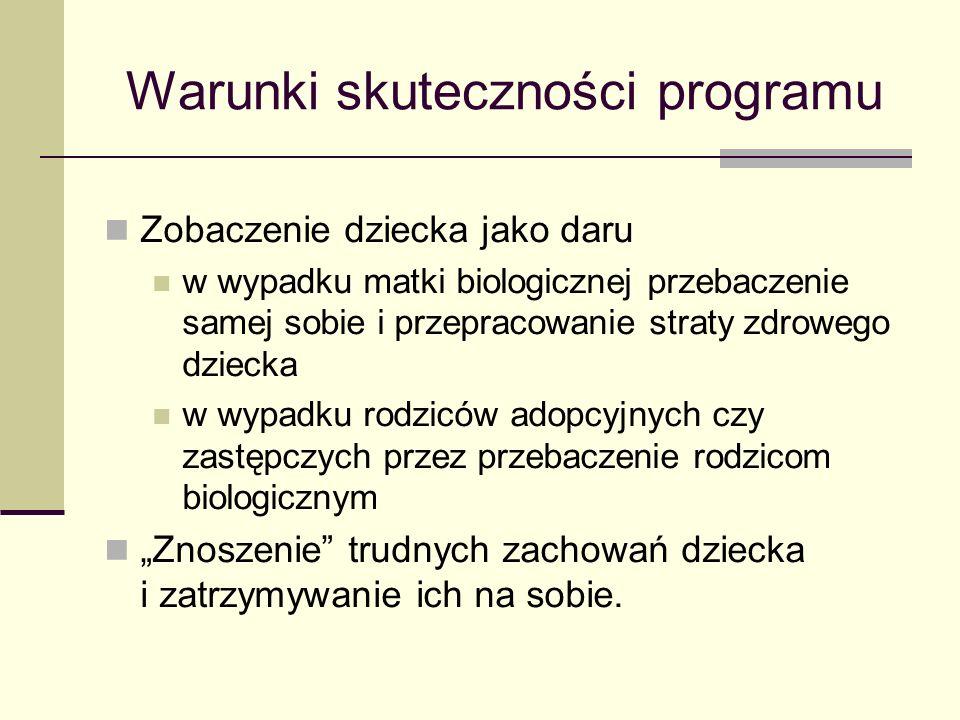 Warunki skuteczności programu