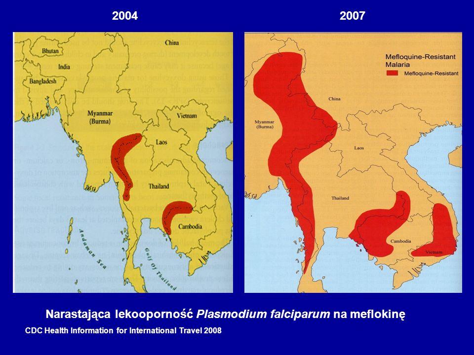 Narastająca lekooporność Plasmodium falciparum na meflokinę
