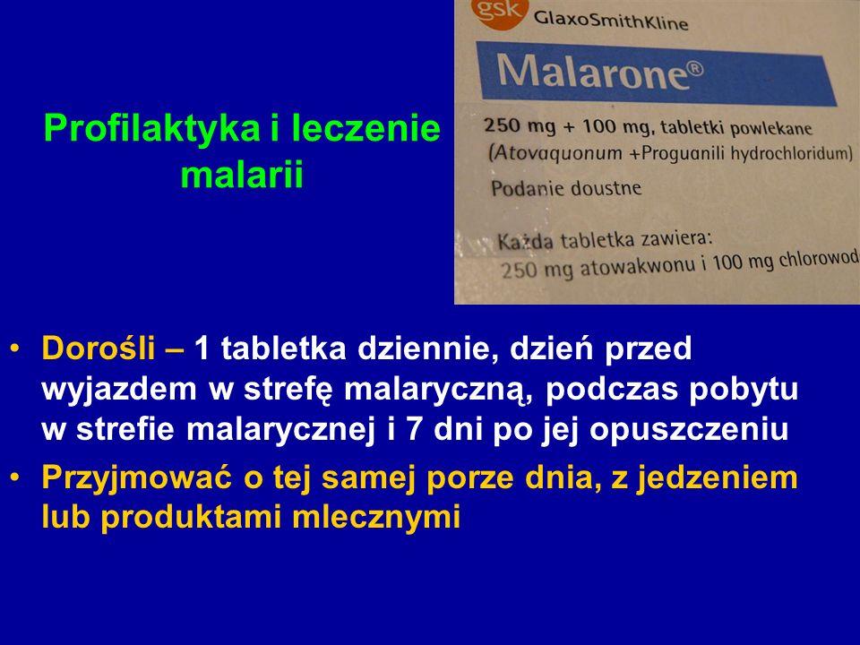 Profilaktyka i leczenie malarii