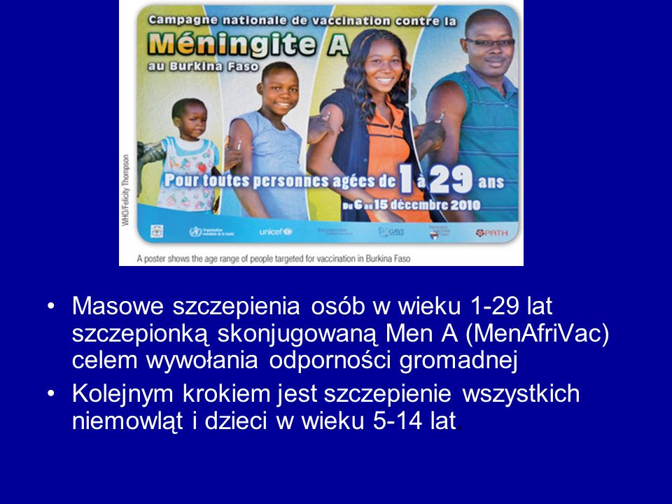 Masowe szczepienia osób w wieku 1-29 lat szczepionką skonjugowaną Men A (MenAfriVac) celem wywołania odporności gromadnej