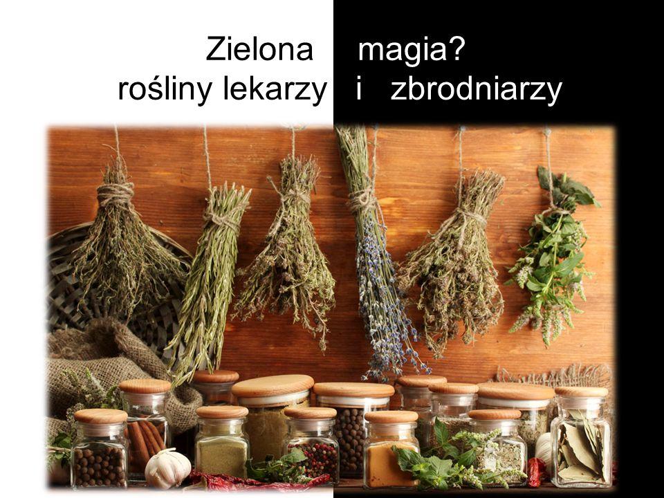 Zielona magia - rośliny lekarzy i zbrodniarzy