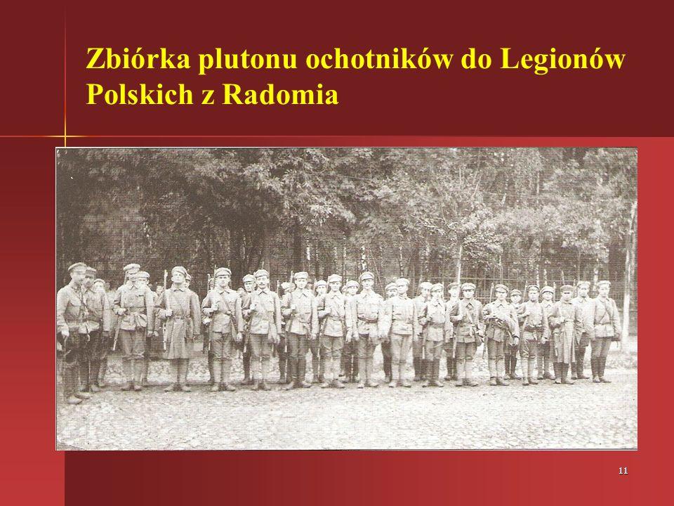 Zbiórka plutonu ochotników do Legionów Polskich z Radomia