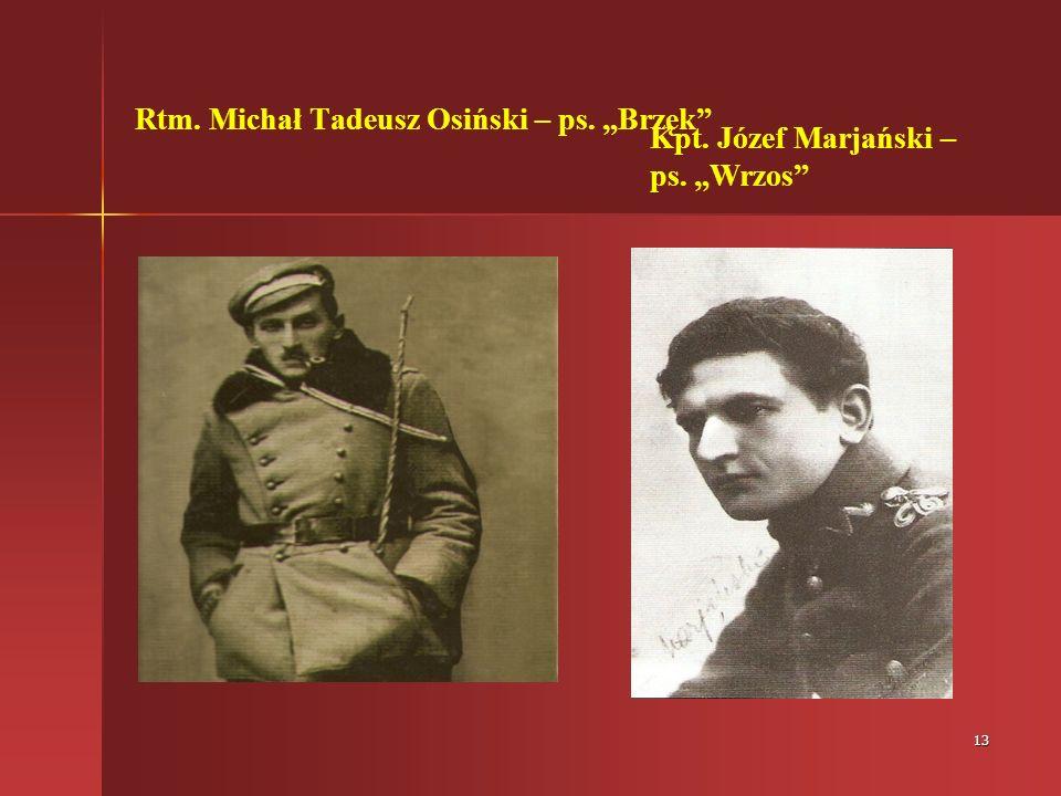 """Rtm. Michał Tadeusz Osiński – ps. """"Brzęk"""