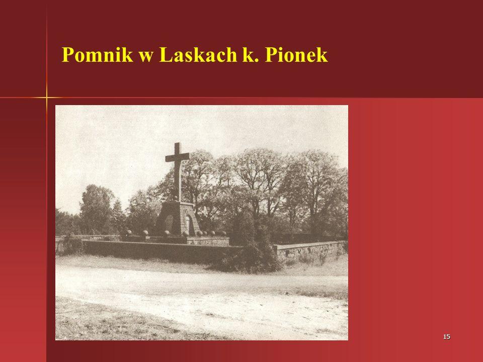 Pomnik w Laskach k. Pionek