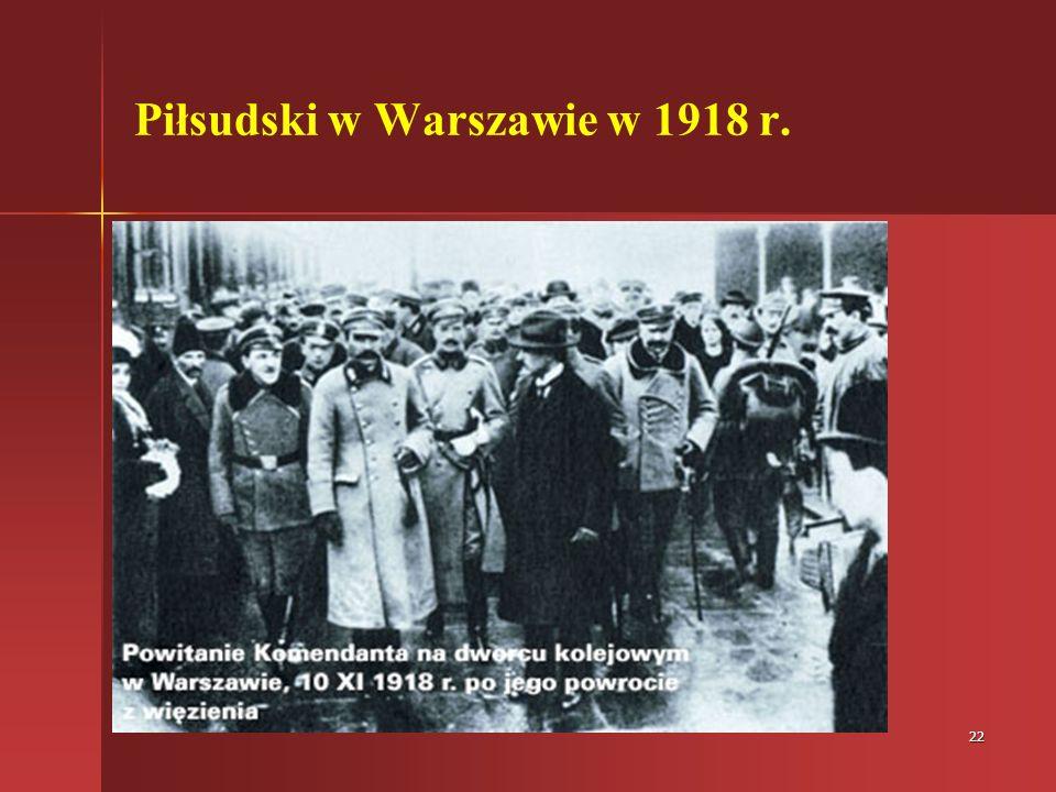 Piłsudski w Warszawie w 1918 r.