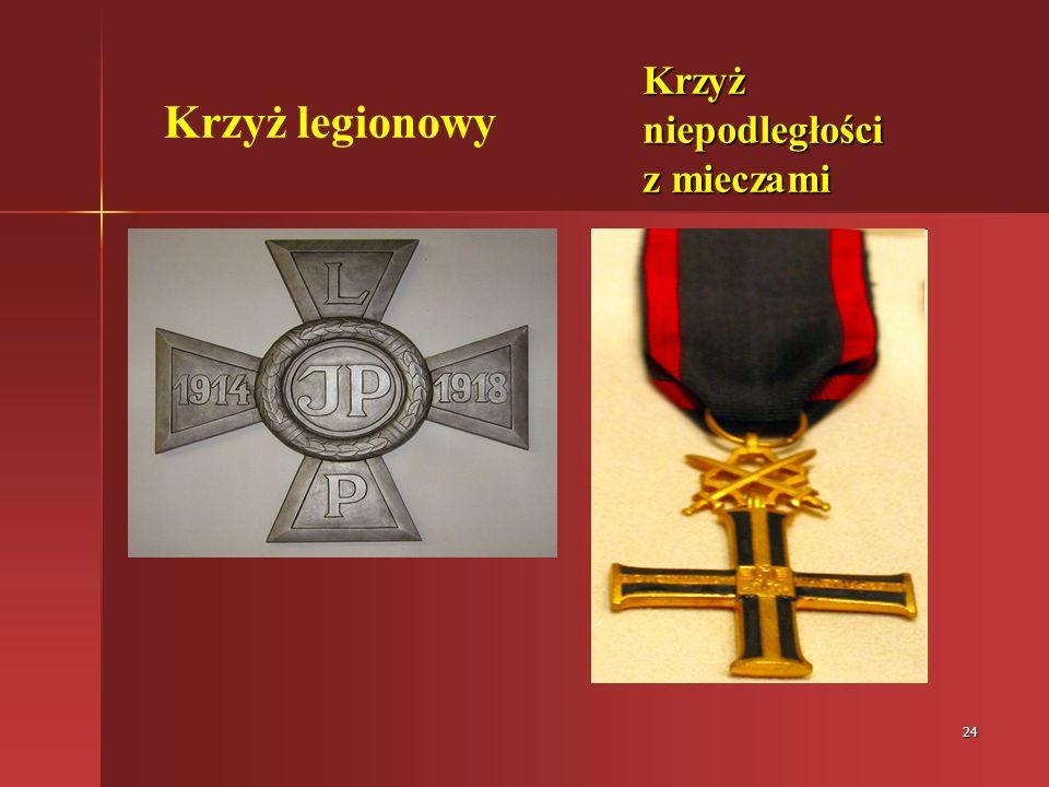 Krzyż legionowy Krzyż niepodległości z mieczami