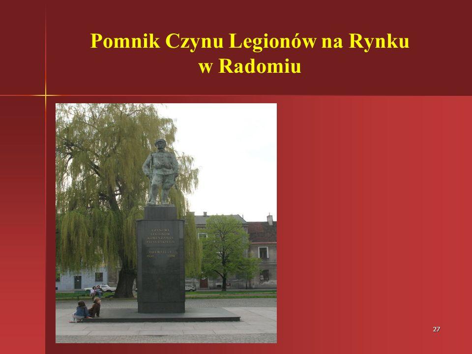 Pomnik Czynu Legionów na Rynku w Radomiu
